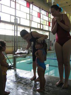 At swimming with Sabra