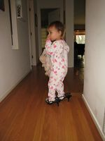 Amelia shoes in the morning