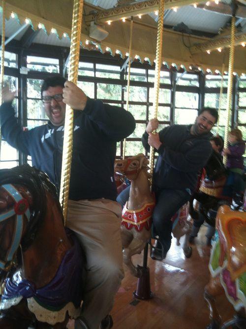 Jeff and matt on carousel