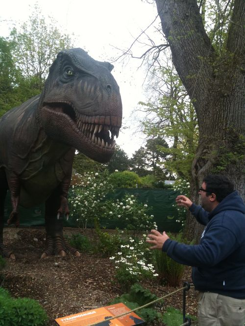 Jeff and dinosaur